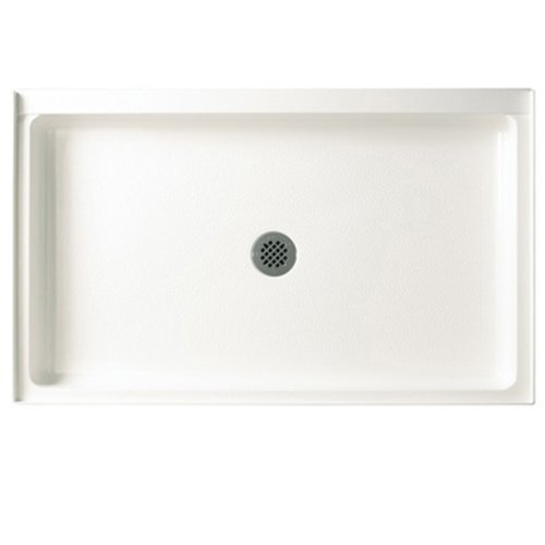 (Swanstone R-3454-010 Veritek Center Drain Shower Base, 34-Inch by 54-Inch by 5-1/2-Inch, White)