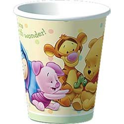 y Days' Paper Cups (8ct) (Poohs Baby Days Shower)