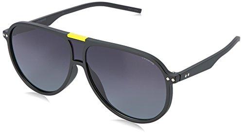 Polaroid Sunglasses Pld6025s Aviator, Matte Black/Gray Sf Polarized, 99 - Aviator Sunglasses Polaroid