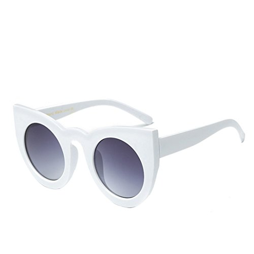 Aisa Women's Oversized Round Cat-eye Sunglasses Bold Rim Vintage Retro Eyewear - Cat Eye Express Sunglasses