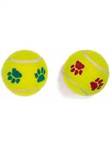 Ethical Mint Flavor Pawprint Tennisball for Dogs, 2-Pack