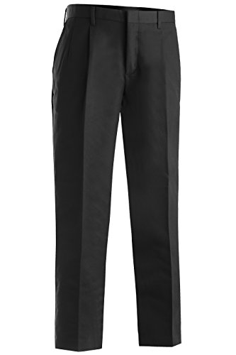 Edwards Garment Men's Tall Business Casual Chino Pleated Pant, BLACK, 34 ()