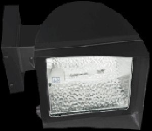 RAB Lighting FXH100XQT Metal Halide Flex Floodlight with Fixed Wall Mount, ED17 Type, Aluminum, 100W Power, 9000 Lumens, 277V, Bronze Color