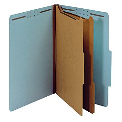 Office Depot 100% Recycled Classification Folders, 2 Dividers, 2.5in Expansion, Legal Size, Light Blue, 10 pk, - 14 Expansion Classification Folder