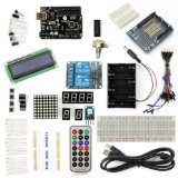SainSmart UNO R3 Starter Kit with 18 Basic Arduino Tutorial Projects for Beginners (1602 LCD & Prototype Shield & 2-Channel 5V Relay included) ()
