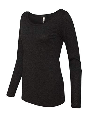 (Next Level Womens Tri-Blend Long-Sleeve Scoop Tee (6731) -VINTAGE BL -S)
