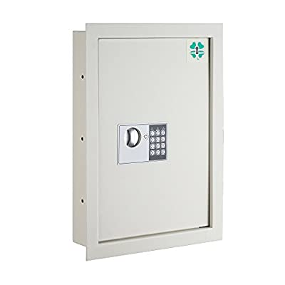 Lucky Guard Electronic Wall Safe Hidden .63 CF Large Safes Jewelry Secure