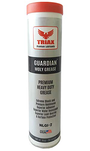 TRIAX GUARDIAN HD EP Grease with Moly - True Multi Purpose - Wheel  Bearings, Shock Loaded Parts, Extremely Tacky, 400 F Drop Point, Zero  Separation -