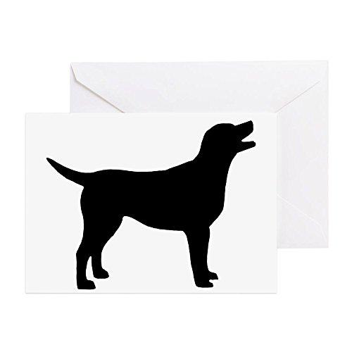 CafePress - Labrador Retriever - Greeting Card (10-pack), Note Card with Blank Inside, Birthday Card Glossy (Labrador Retriever Birthday Card)