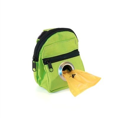 POOCH POUCH - Lime Green Backpack Dispenser Dog Waste Pick-Up Bags (20ea)