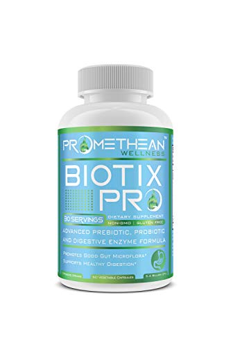 Biotix PRO Advanced Prebiotics and Probiotics Plus Digestive Enzymes Supplements for Men and Women Rebalance Your Gut Microbiome Health 60 Count Powder Capsules Supplement in USA