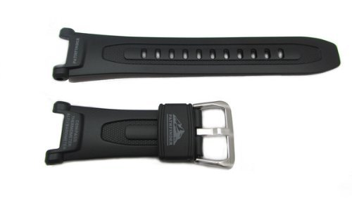 Casio Black Resin Pathfinder Series Watch Band - 18mm by Casio