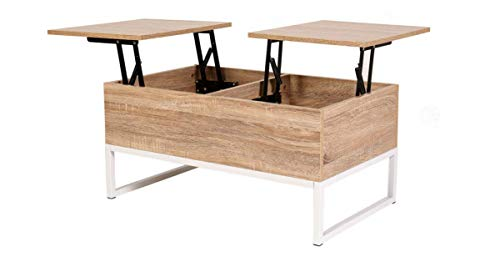 Table A Manger Salon.Maimaiti Tables Basses Moderne Relevable Pour Salle A Manger Salon 80x48x43cm Blanc