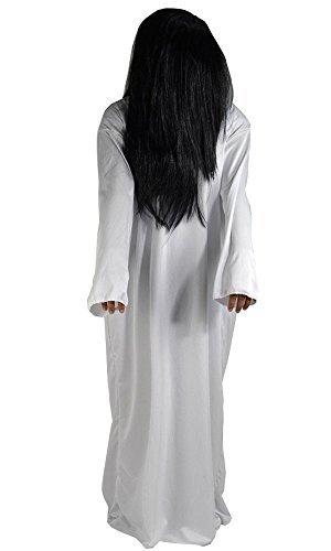 [Halloween costumes] 2 point set wig one-piece ghost Sadako cosplay costume fancy dress one size fits -