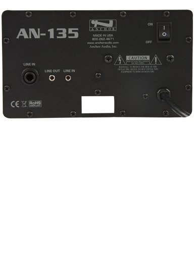 Anchor Audio AN-135+ 30 Watt AC Powered Wall-Mount Speaker, Black by Anchor Audio (Image #1)