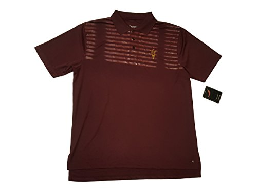 Maroon Striped Performance Polo - 2