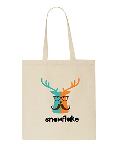 Tote Style Beige Animal Quote Character Bag Shopper Vintage Hipster Snowflake Stag w0qf1nH7xE