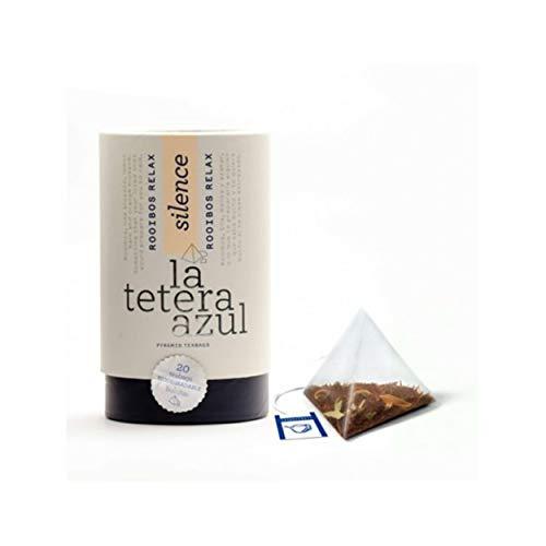 LA TETERA AZUL Infusion De Rooibos Premium Con Tila, Melisa Y Azahar Infusion Relajante Rooibos Relax Bote De 20 Piramides