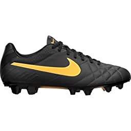 Nike Tiempo Legend IV FG Firm-Ground Soccer Cleat (7, Dark Charcoal/Black/Laser Orange)