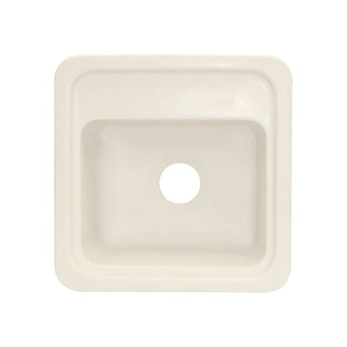 Biscuit Composite Top Mount (Transolid KST18181-08 18in x 18in Top Mount Self-Rimming Concord Kitchen Sink, Biscuit)