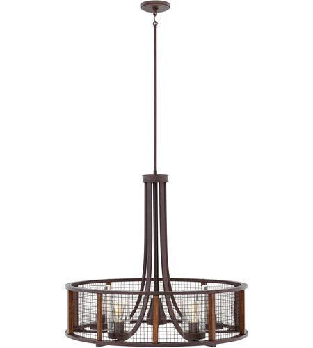 Outdoor Pendant 5 Light Fixtures with Iron Rust Finish Metal Material Medium 30
