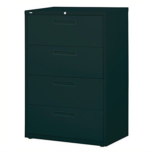 Hirsh Industries LLC 5000 Series Lateral 36'' Wide 4 Drawer File Cabinet in Black by Hirsh Industries