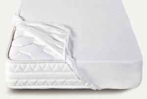 Coprimaterasso Salva materasso in spugna elasticizzato Bianco 1 piazza Prezzi offerte