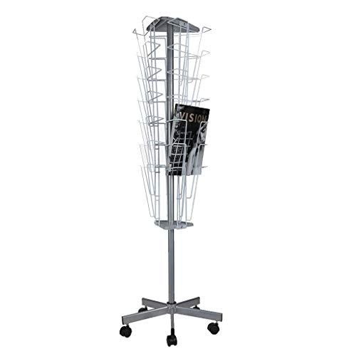 ZHJSJIA Magazine Rack Rotary Display Stand Data Display Stand, Newspaper Stand, Multi-Layer Magazine Display Stand, Leaflet Advertisement Page Newspaper Stand