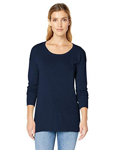 (Amazon Essentials Women's Lightweight Scoopneck Tunic Sweater, Navy, X-Large)