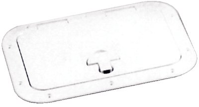 """Bomar Inspection Hatch 8-3/16"""" X 12-3/16"""", Off White"""