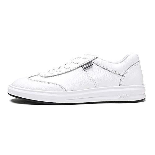 de Cuero Ocasionales Blanco Hombres Zapatos de Hombres 7 tamaño con 8 Blanco los 5 los HhGold cómodos Hombres para 5 los Cordones UK Mocasines de Zapatos US Color XTpEqTwY