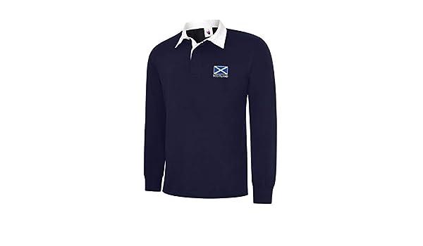 Uneek clothing - Camiseta de Rugby de Manga Larga con Bandera de ...