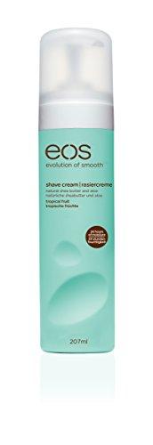 eos Shave Cream Tropical Fruit, Rasiercreme für Frauen, statt Rasierschaum oder Rasiergel, für eine schonende Rasur, vegan, 1 x 207 ml