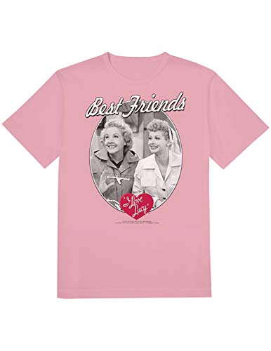 I Love Lucy Best Friends Ethel and Lucy Pink T-Shirt