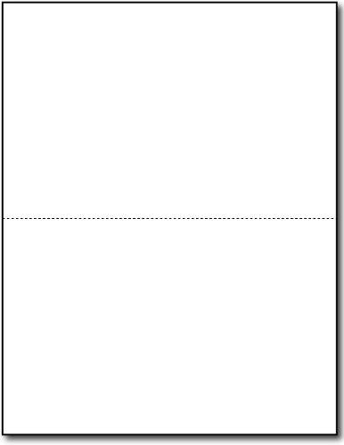 65lb White Jumbo Postcards - 2 per page - Breaks to 5 1/2'' x 8 1/2'' Sheets (250 Sheets / 500 Postcards) by Desktop Publishing Supplies, Inc.