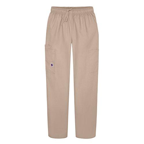 Sivvan Women's Scrubs Drawstring Cargo Pants (Available in 12 Colors) - S8200 - Khaki - M