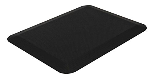 Sorbus Anti Fatigue Mat—All-Purpose Standing Desk/ Floor Mat, Cushioned for Luxurious Comfort— Great for Kitchen, Bathroom, or Workstation in Home or Business (24 in x 18 in, Black)