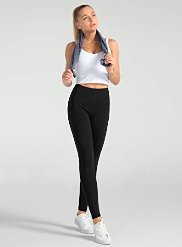 Dragon Fit High Waist Yoga Leggings for Women with 3 Pockets,Tummy Control Workout Running Pants,Athletic Compression Leggings(Medium, Ankle58-Black)
