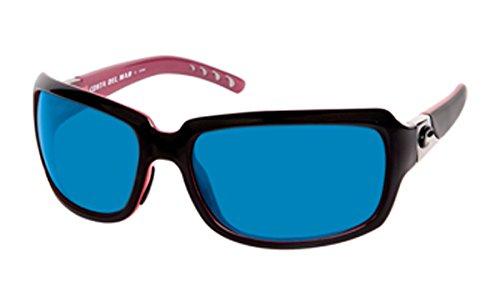 Costa Del Mar Isabela 580G Isabela, Black Coral Blue Mirror, BLUE - Mar Sunglasses Costa Isabela Del