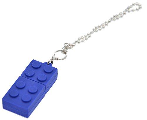 FEBNISCTE Key Chain Model Memory Stick Blue Building Block 4GB USB 2.0 Thumb Pen Drive - 100 Pack by FEBNISCTE (Image #5)