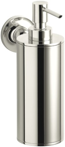 Kohler K-14380-SN Purist Wall-Mounted Soap Dispenser, Vibrant Polished Nickel