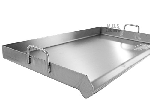 Stainless steel griddle quot x plancha with heavy duty