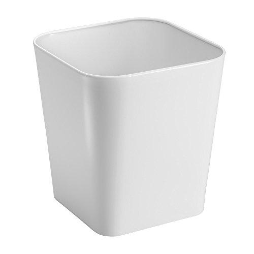 White Frost Gift Box - InterDesign Gia Wastebasket Trash Can, Metal, White
