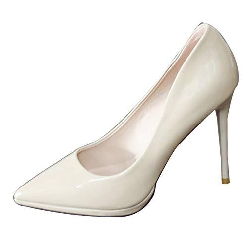 YMFIE La Primavera y el otoño de la Manera Simple Puntiagudo Estilete Solo Zapatos Zapatos de Trabajo Elegante Temperamento Sexy Banquete Partido Tacones Altos, 39 UE 34 EU
