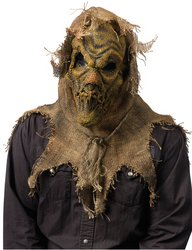Fun World Men's Scarecrow Gunny Sack Mask Accessory, -Multi, Standard (Scarecrow Mask Latex)
