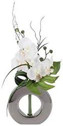 /Modelo Aleatorio /orqu/ídea/ AC-D/éco Composici/ón Floral en jarr/ón Plateado/