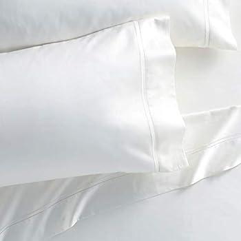 Amazon Com White Cotton King Size Pillowcases 200tc