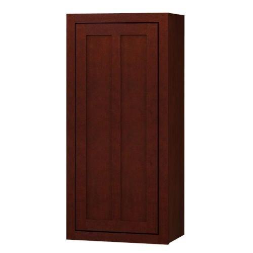 Sagehill Designs LDW1842 Lakewood 18″ x 42″ Single Door Kitchen Wall Cabinet, Cabernet