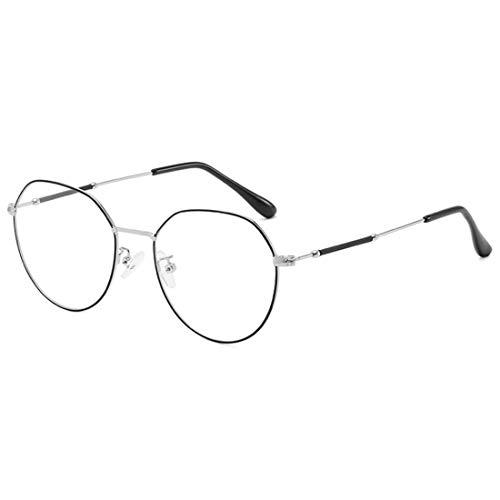 Unisexe De Vintage Optiques Métal Monture Rondes Argent Noir Huicai En Lunettes qTwpYxPB