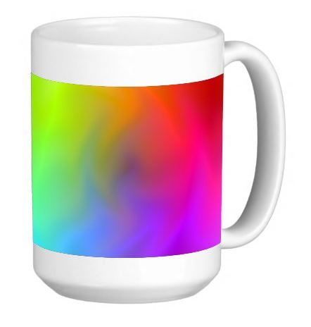 (Retro Finger Paint Tye Dye 15 Ounce Ceramic Coffee Mug Tea Cup)